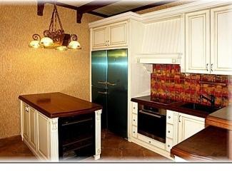 Угловая кухня из бука, Мебельная фабрика Мебель Парк, г. Москва