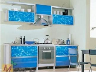 Прямая кухня Аква с фотопечатью, Мебельная фабрика Манго, г. Пенза