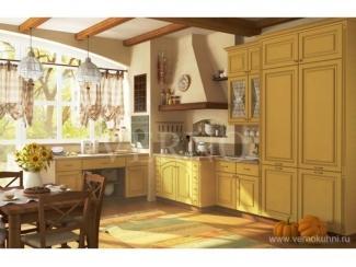 Кухонный гарнитур Оливия с патиной 2, Мебельная фабрика ВерноКухни, г. Челябинск