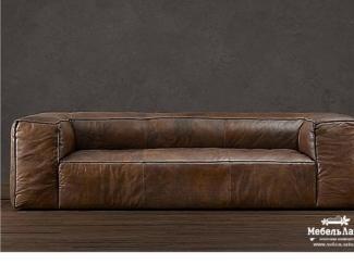 Кожаный диван Триста в стиле &quotЛофт&quot , Мебельная фабрика МебельЛайн, г. Самара