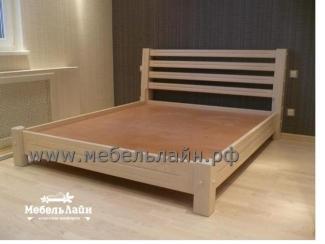 Простая кровать из натурального дерева, Мебельная фабрика МебельЛайн, г. Самара