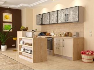Кухня с фасадом шпон, Мебельная фабрика Крона Мебель, г. Ростов-на-Дону