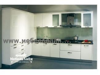 Угловая белая  кухня, Мебельная фабрика МебельЛайн, г. Самара