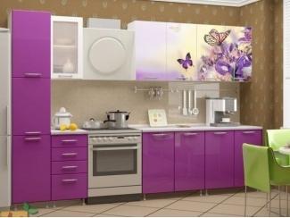 Прямая кухня Весна с фотопечатью, Мебельная фабрика Манго, г. Пенза