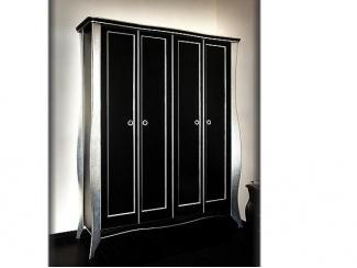 Классический шкаф черный с сусальным серебром, Мебельная фабрика Мебель Парк, г. Москва