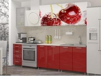 Прямая кухня Вишня с фотопечатью, Мебельная фабрика Манго, г. Пенза