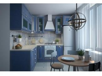 Синяя угловая кухня, Мебельная фабрика Аригард, г. Химки