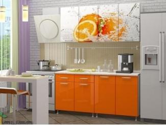 Прямая кухня Апельсин-3 с фотопечатью, Мебельная фабрика Манго, г. Пенза