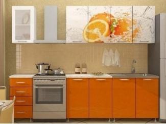 Прямая кухня Апельсин-2 с фотопечатью, Мебельная фабрика Манго, г. Пенза