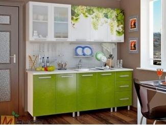 Прямая кухня Виноград с фотопечатью, Мебельная фабрика Манго, г. Пенза