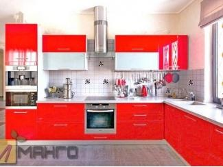 Красный кухонный гарнитур Анжела, Мебельная фабрика Манго, г. Пенза