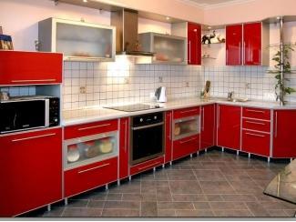 Кухня угловая  Феррари в алюминиевой окантовке, Мебельная фабрика Derli, г. Пенза