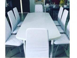 Белая обеденная зона, Мебельная фабрика CHROME STYLE (И.П.Комалев), г. Ульяновск