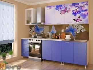 Прямая кухня Бабочки с фотопечатью, Мебельная фабрика Манго, г. Пенза