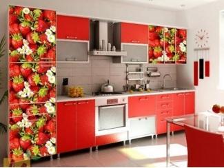 Прямая кухня Виктория с фотопечатью, Мебельная фабрика Манго, г. Пенза