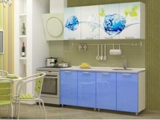 Прямая кухня Айс-2 с фотопечатью, Мебельная фабрика Манго, г. Пенза