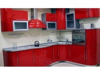 Небольшая красная кухня Эмаль , Мебельная фабрика Вектра-мебель, г. Невинномысск