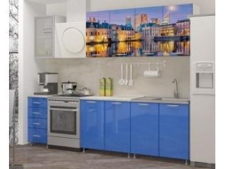 Прямая кухня Гаага с фотопечатью, Мебельная фабрика Манго, г. Пенза