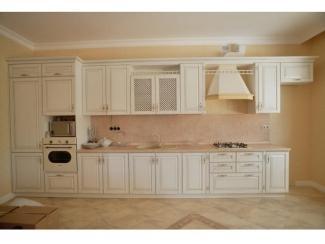 Прямая бежевая кухня, Мебельная фабрика Аригард, г. Химки
