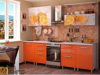 Прямая кухня Апельсин с фотопечатью, Мебельная фабрика Манго, г. Пенза