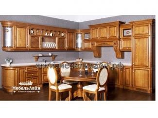 Угловая кухня из дерева, Мебельная фабрика МебельЛайн, г. Самара