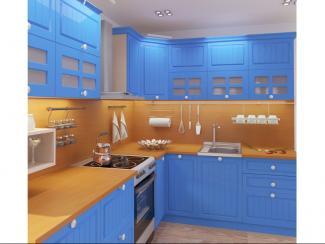 Кухня угловая Кантри синяя, Мебельная фабрика Форс, г. Волгодонск