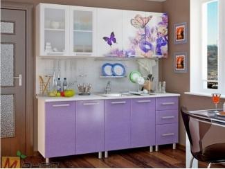 Прямая кухня Бабочки-2 с фотопечатью, Мебельная фабрика Манго, г. Пенза